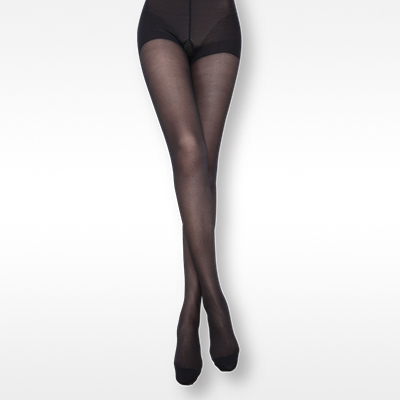 Thigh high stocking with lace band